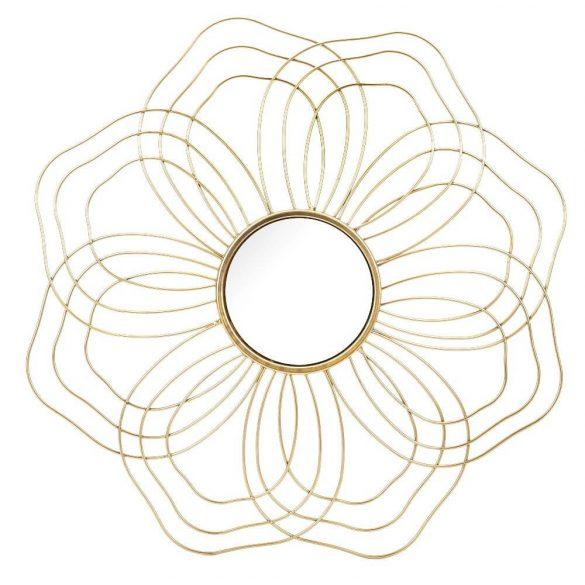 Sugaras arany fali tükör 54x54cm