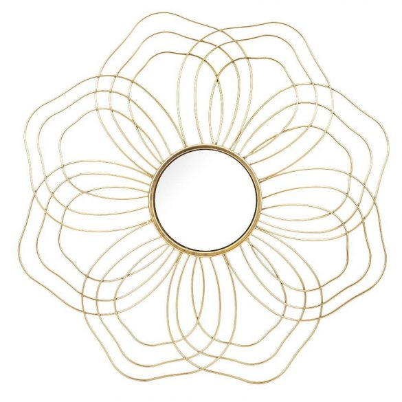 Sugaras arany tükör 54x54cm