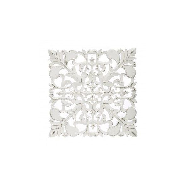 Fali dísz faragott fehér 60x60cm