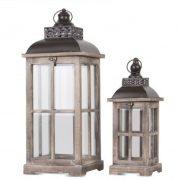 Lámpás szett 2 darabos világos barna 60cm, 40cm