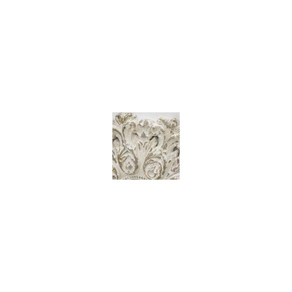 Fali tükör köralakú fehér, antikolt 83x83cm
