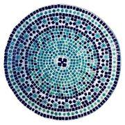 Kék fehér kerámia tál 33cm átmérő
