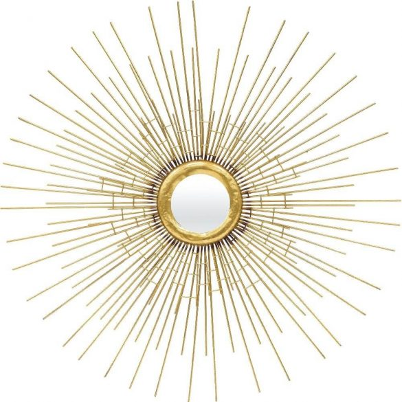 Sugaras arany tükör 79x79cm