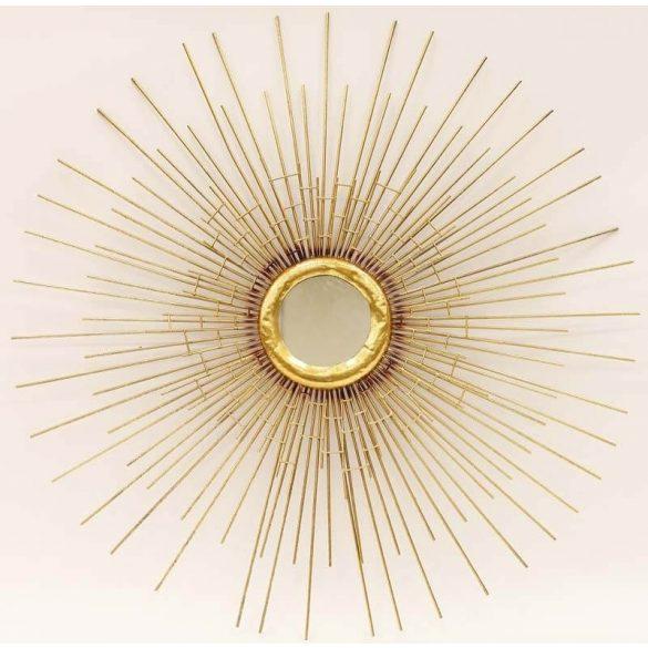 Sugaras arany fali tükör 79x79cm