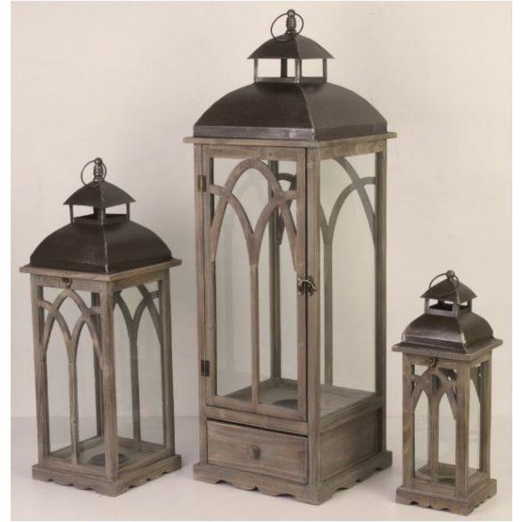 Lámpás barna 46,5x16cm