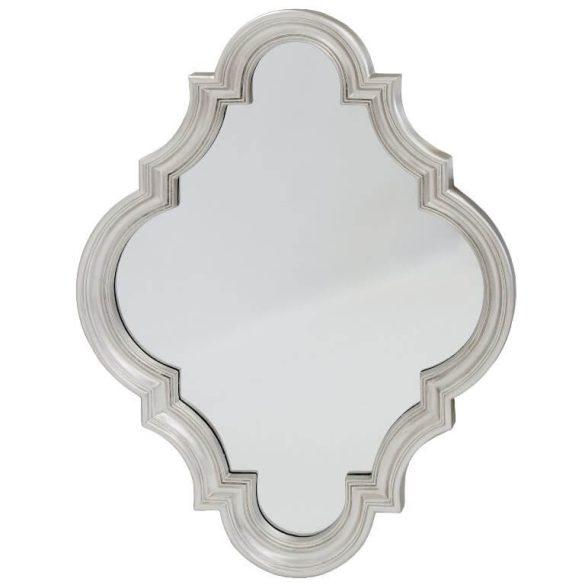 Marokkói fali tükör ezüst 78x102cm