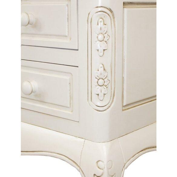 Íróasztal vintage krém színű 122x54x78cm