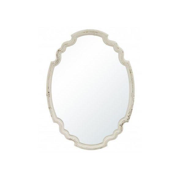 Fali tükör ovális krém 60x43cm