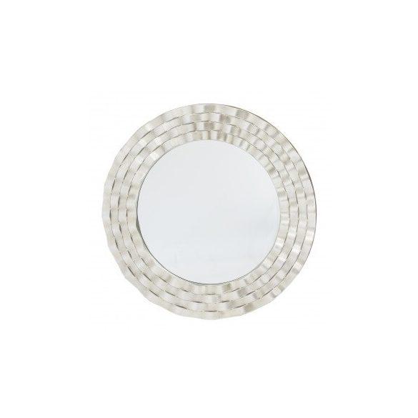 Kör alakú fali tükör ezüst 90x90cm