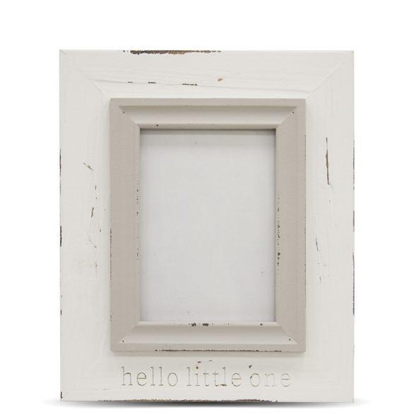 Képkeret fehér szürke 24x20cm