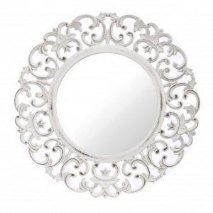 Fali tükör köralakú fehér 60x60cm