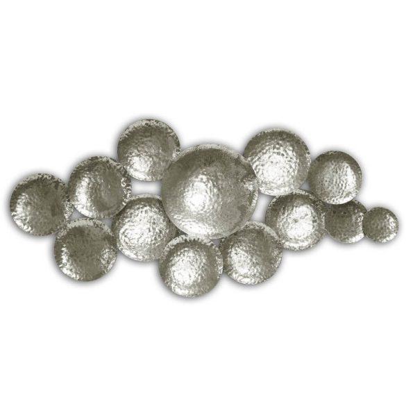 Fali dekoráció ezüst fém 115x53cm