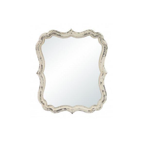 Fali tükör íves krém 40x32,5cm