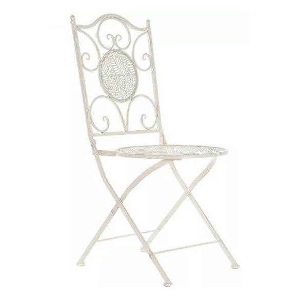Kerti szék fehér fém