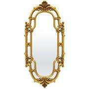 Arany ovális tükör 121x54cm