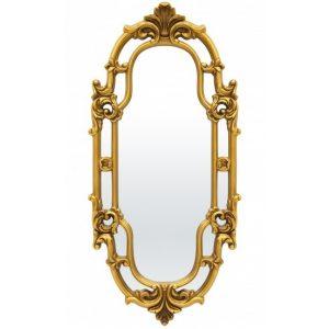 Arany ovális fali tükör 121x54cm