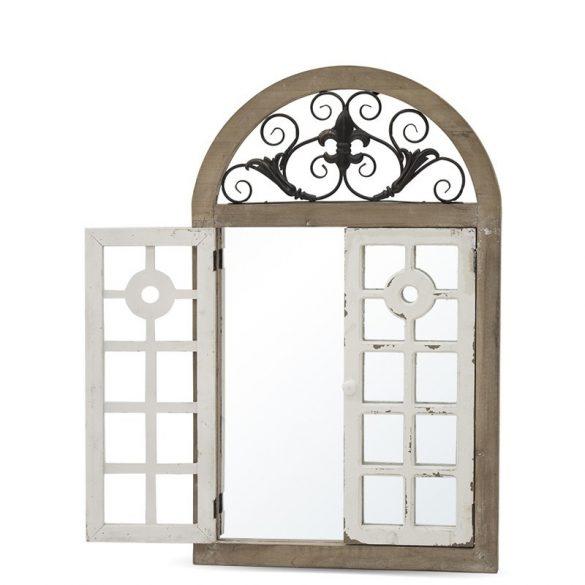 Fali tükör ablakkal fehér barna