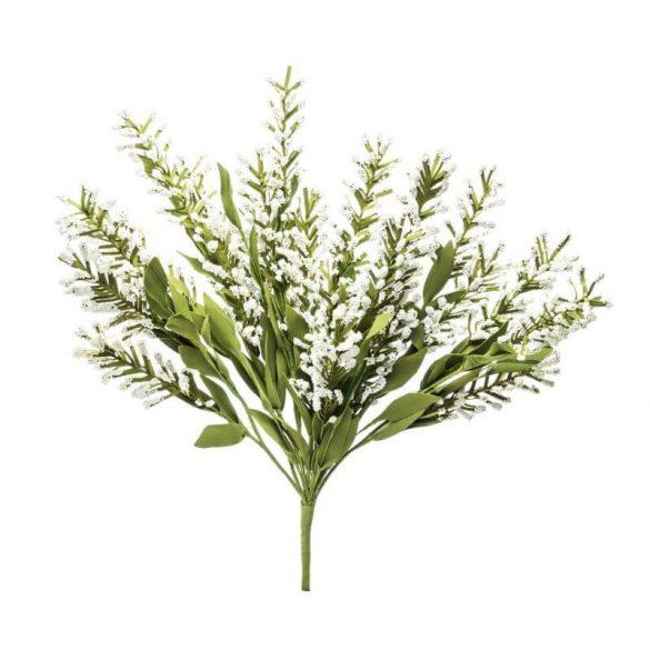Műnövény zöld fehér ágak csokorban 52x33cm