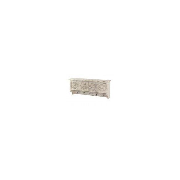 Polc fogassal fiókos krém 81x33,5cm