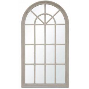 Fali tükör fehér fa 130x72cm