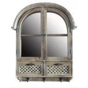 Tükör ablakkal fehér 57,5x77,5cm