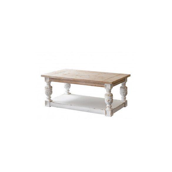 Dohányzóasztal fehér 120x70cm