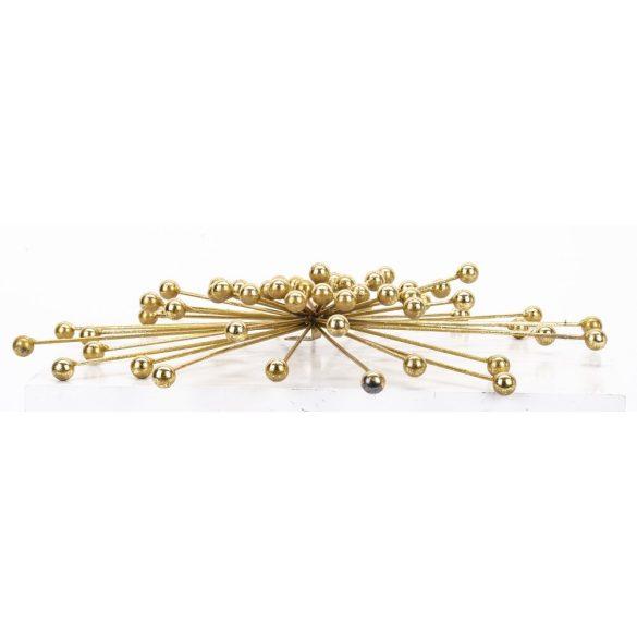 Arany fali dekoráció sugaras gömb 43x43