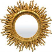 Napsugaras arany tükör 86x86cm