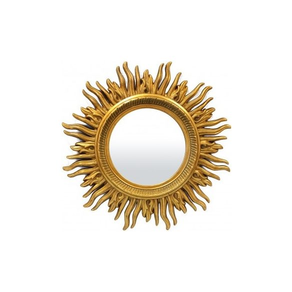 Napsugaras arany fali tükör 86x86cm