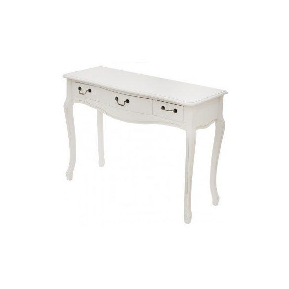 Konzol asztal fehér 109x39x79cm