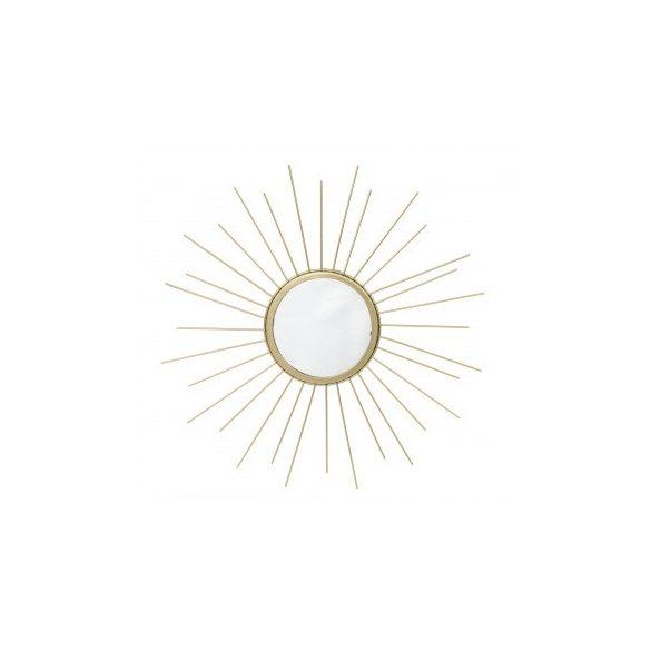 Sugaras arany fali tükör 40x40cm