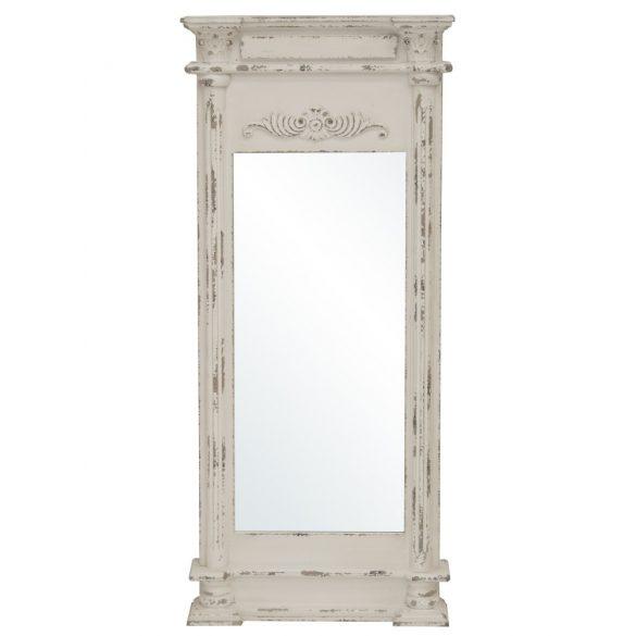 Fali tükör krém fa 125x50cm