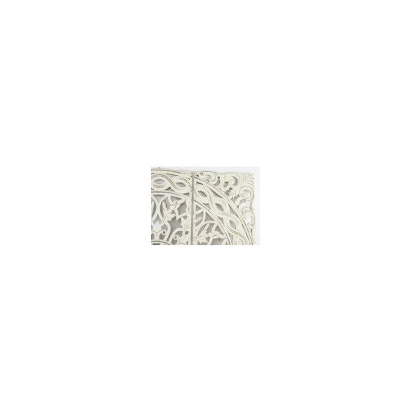 Fali dísz 3 részes faragott fehér 90x90cm