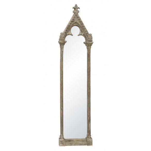 Fali tükör szürke fa 193x48x7cm