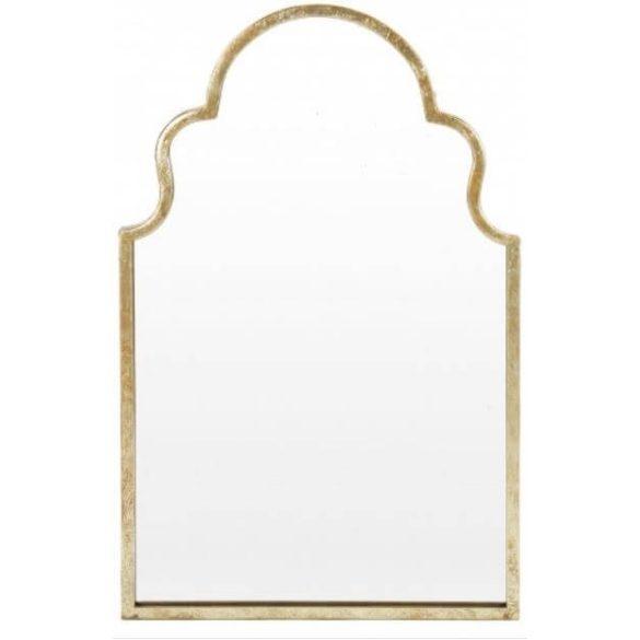 Marokkói mintás fa fali tükör 62x82cm