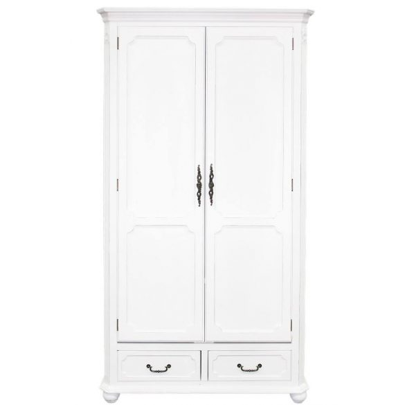 Klasszikus ruhásszekrény fehér 100x188cm