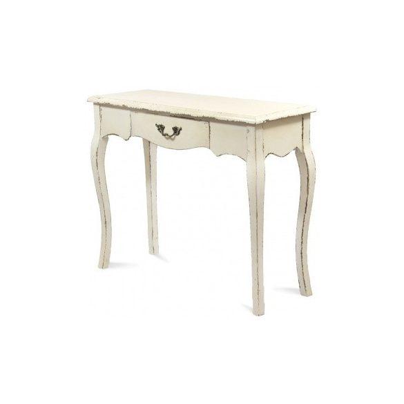 Konzol asztal krém színű 102x80cm