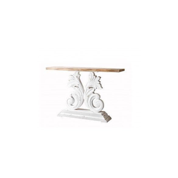 Konzolasztal fehér színű 150x40x90cm