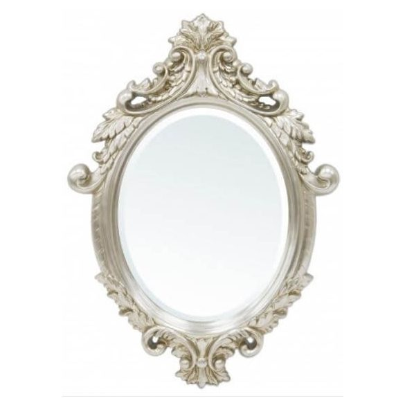 Díszes ovális tükör 62x85cm