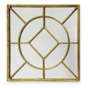 Fali tükör négyszög alakú arany  40x40cm