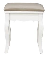 Fa ülőke, puff fehér és krém színnel